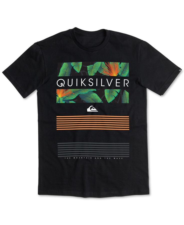 Turn your casual style up a notch with this Line Up T-shirt from Quiksilver, Featuring a comfortable classic fit and an eye-catching graphic-print logo at the front. | Cotton | Machine washable | Impo