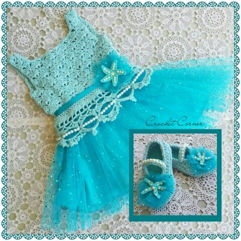 Aquamarine Tutu Dress-Nisha Thomas