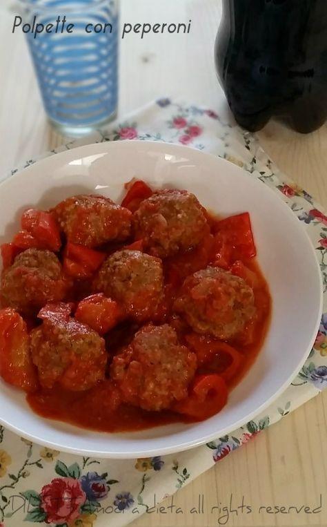 Polpette di carne magra con peperoni cucinati con il metodo Dukan
