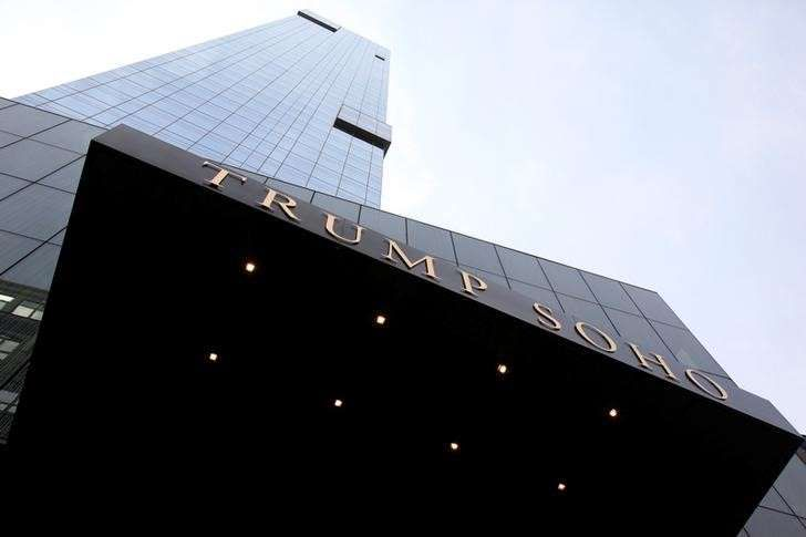 A New York hotel deal shows how some public pension funds help to enrich Trump  -  April 26, 2017:        FILE PHOTO: The Trump Soho Hotel is seen in New York