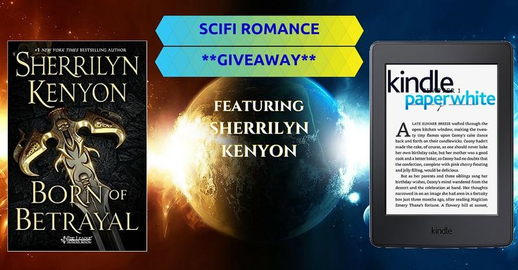 All entrants download 2 free bestselling scifi romance ebooks. Share and refer friends to unlock a total of 4 free ebooks! Every referral adds points towards winning the grand prizes, a Kindle Paperwhite or a hardcover novel BORN OF BETRAYAL, by Sherrilyn Kenyon.