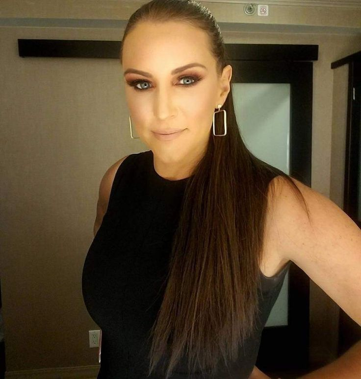 The Busty And Bouncy commissioner of Raw Stephanie McMahon with huge breasts.