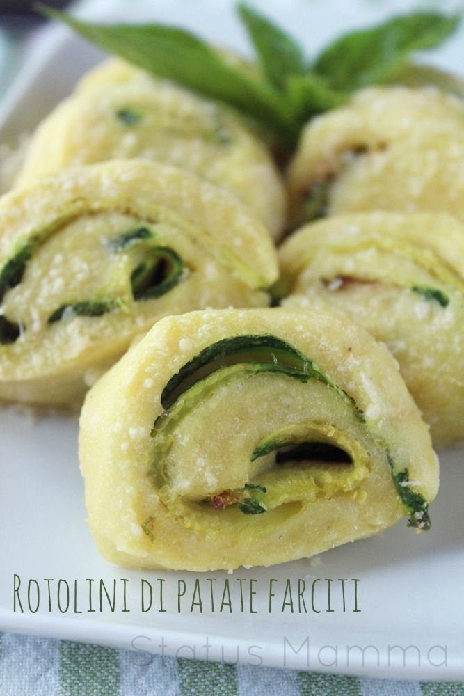 Rotolini di patate farciti con zucchine - potato roll with zucchini filling