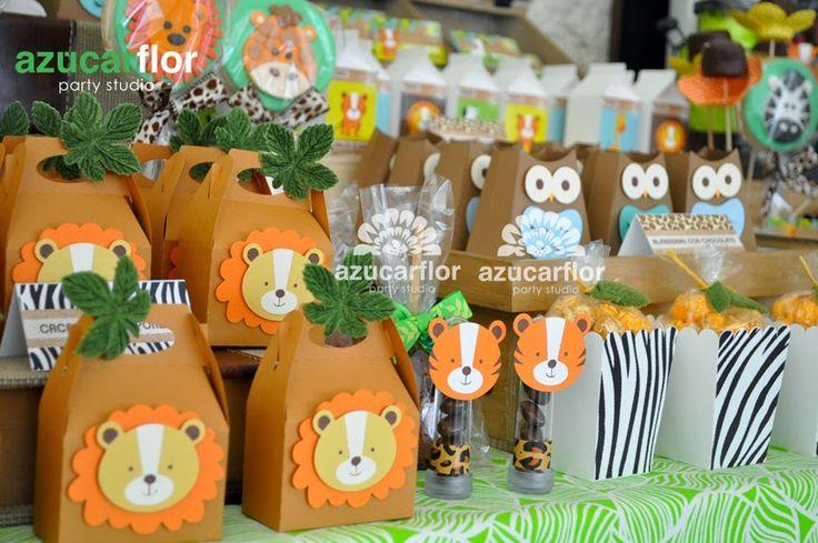 AZUCAR FLOR party studio: Animales de la Selva (baby shower)