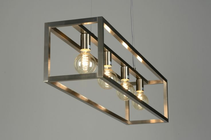 Hanglamp 87313   Hanglamp 87313: Modern, Design, Staal , Rvs