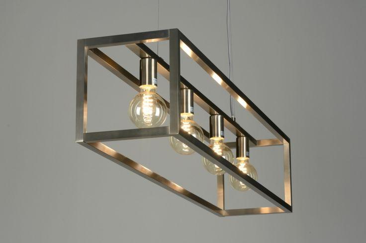 Hanglamp 87313 | Hanglamp 87313: Modern, Design, Staal , Rvs