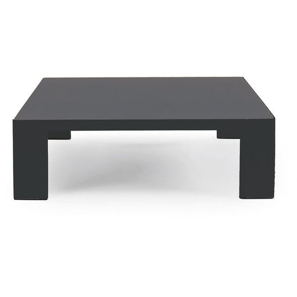 Ethimo Esedra Square Low Coffee Table Dark Grey & Slate Grey (258.015 HUF) ❤ liked on Polyvore featuring home, furniture, tables, accent tables, black, square coffee table, square table, square coffe tables, ebony furniture and black coffee table