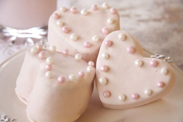 Receta de Cupcakes en Forma de Corazón