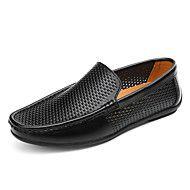 Masculino sapatos Pele Primavera Verão Mocassim Tênis Caminhada Para Casual Branco Preto Amarelo