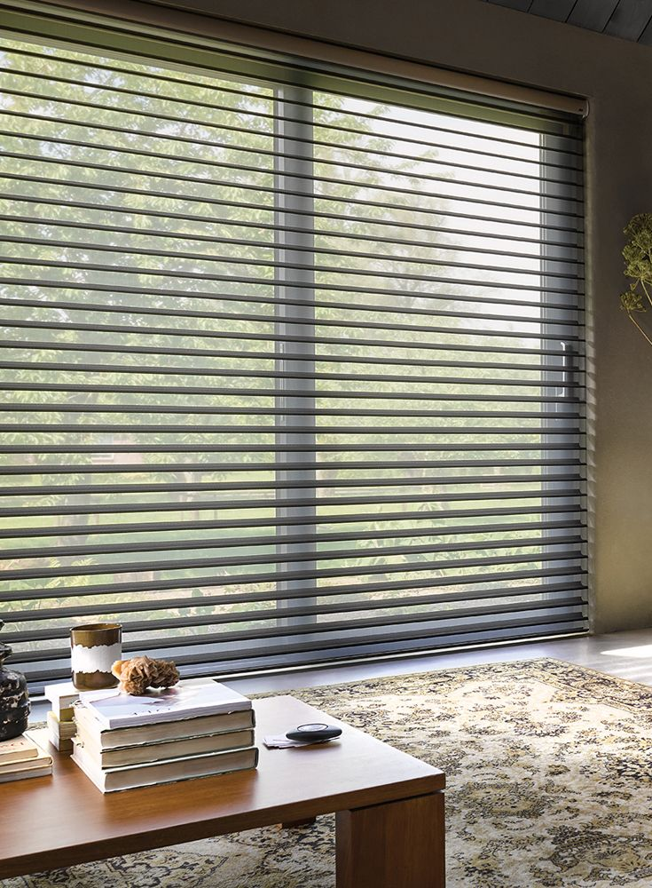 Our stylish Silhouette® Shades are available in gorgeous linen and silk fabrics and a variety of colours from soft whites to cool contemporary greys and subtle, natural earth tones.