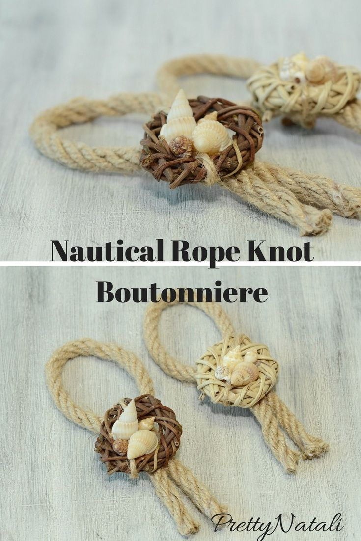 Great addition to your beach wedding , accessory for groom, groomsmens, nautical wedding, destination wedding. Beautiful and elegante nautical boutonniere made from natural color rope, real shells and jute. Pearl pin is included. Nautical Rope Knot Boutonniere, Beach Wedding Boutonniere, Seashells Boutonniere, Grooms Boutonniere, Accessory for Groom, Sea Shell Boutonniere, Destination Wedding  #seashellBoutonniere #beachweddingBoutonniere #nauticalBoutonniere #nauticalwedding…