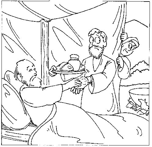 find this pin and more on bible story jacob and esau jacob and esau coloring pages