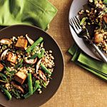 Toasted Barley, Green Bean, and Shiitake Salad with Tofu Recipe | MyRecipes.com