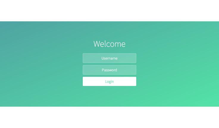 A ultra simple login screen on a calm breezy day,...