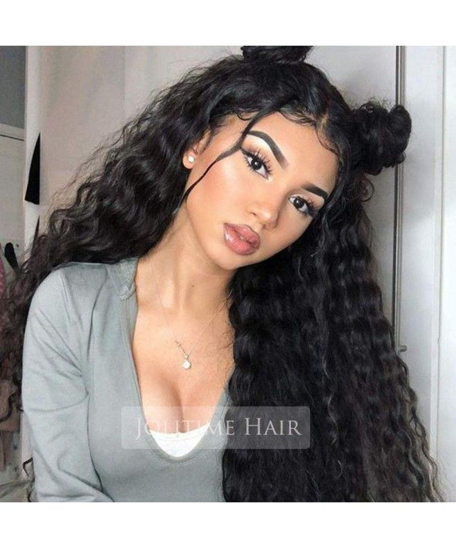 Natural Hair Wigs Loose Curly Lace Front Wigs Synthetic Black Color 20inch – CB188HLME8K