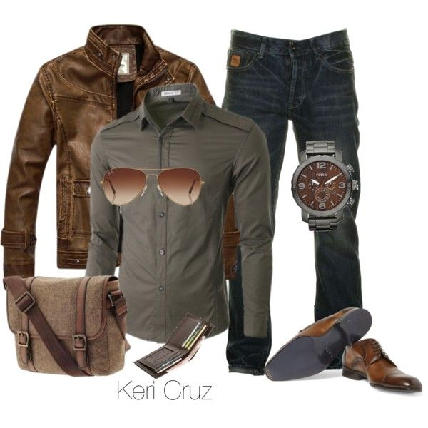 Rugged Men's Fashion; trade the shoes out for boots and this outfit is good to go! (Check out my style board for plenty more)