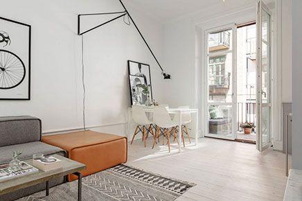 Klein appartement inrichten doe je zo inrichting klein huis pinterest flats - Layout klein appartement ...