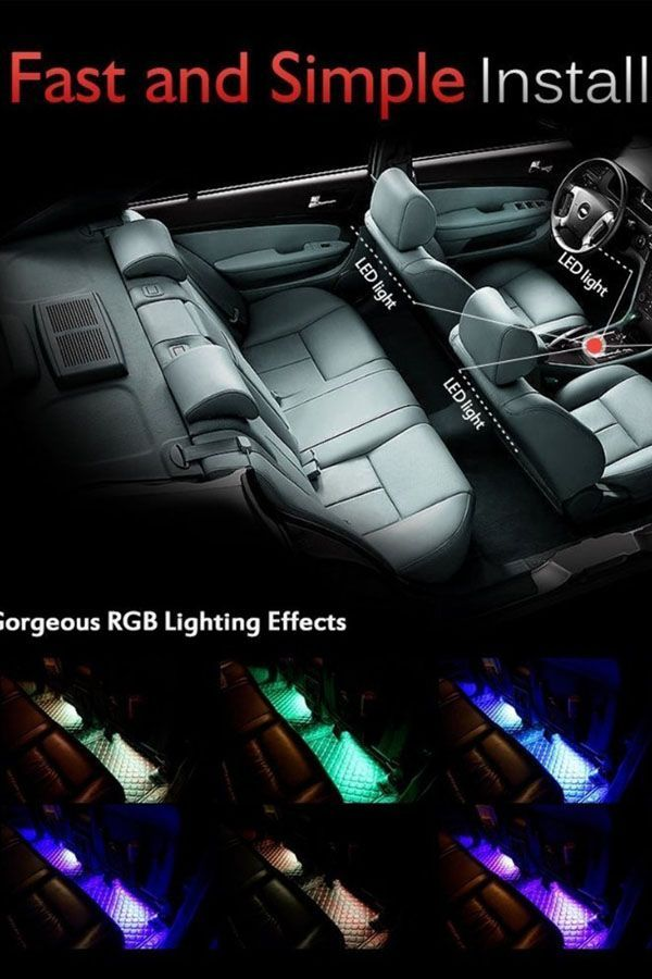 Cool Led Car Interior Decoration Atmosphere Light With Wireless