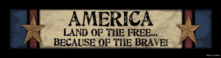 Americana LAND OF THE FREE Wood BLOCK SIGN Primitive Country Home Decor in Home & Garden, Home Décor, Plaques & Signs | eBay