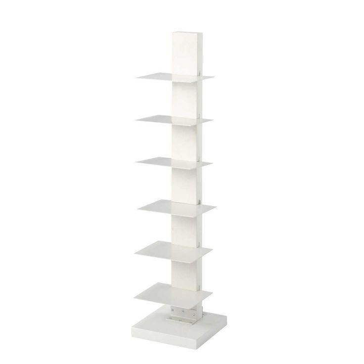 Étagère range-livres en bois blanche L 25 cm EBLA