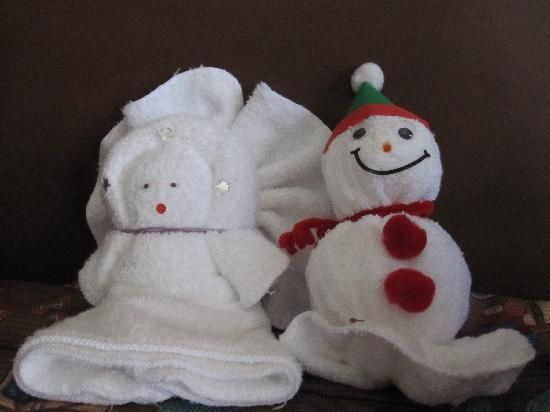 More Holiday Towel Creations
