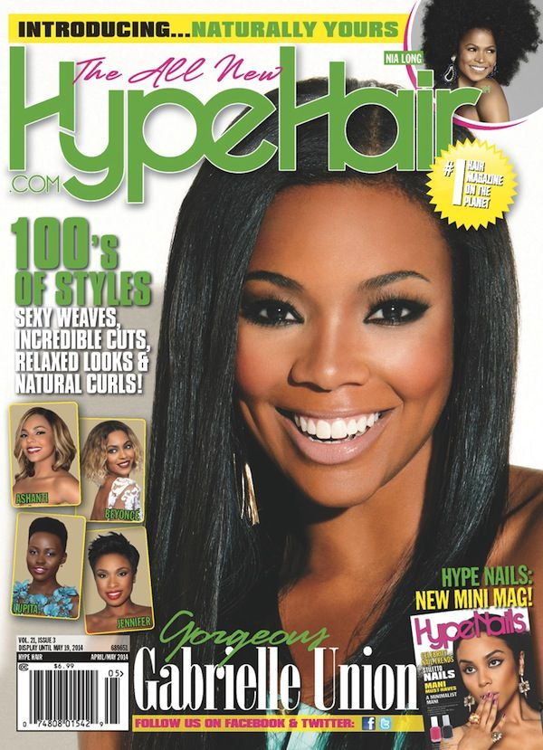 Gabrielle Union Covers Hype Hair Magazine�s April/May 2014 Issue!