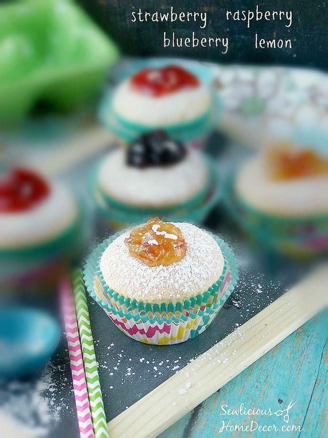 Homemade Jelly Filled #Donut #Cupcakes | http://sewlicioushomedecor.com