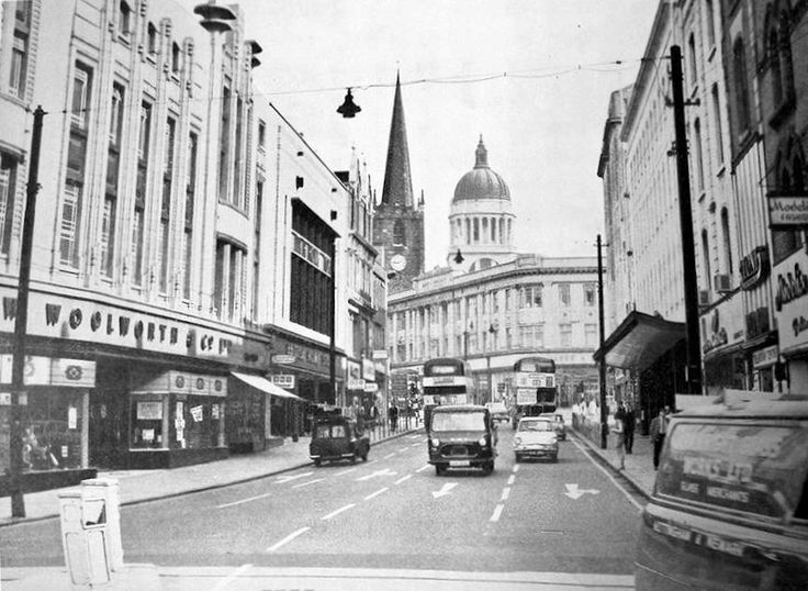 Lister Gate looking towards Albert Street, Nottingham, 1960s.