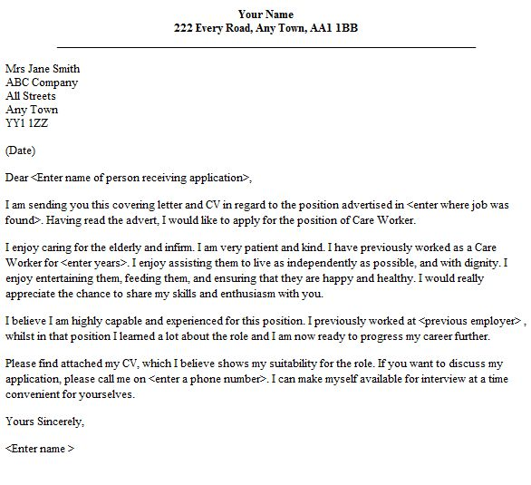 Sample Youth Care Worker Resume Sample Cover Letter For Aged Care