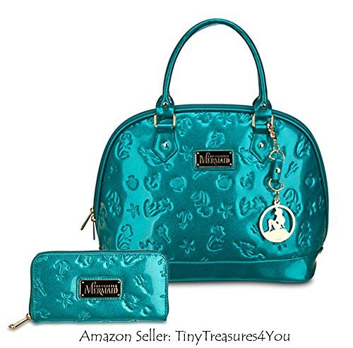 "Disney Store ARIEL Tote ""The Little Mermaid"" Bowler HAND BAG Purse & Wallet Set by Loungefly Loungefly for Disney http://www.amazon.com/dp/B00U4BX2IC/ref=cm_sw_r_pi_dp_IFDSvb0CXR6HV"