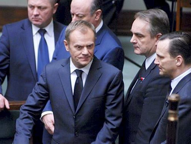 Poland PM  Tusk and his ministers.