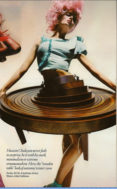 Hussein Chalayan . I brought the table .