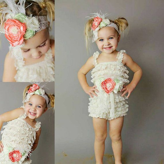 Girls Rompers // Baby Rompers // Girls by AdalynsBoutique on Etsy  http://www.adalynsboutique.com