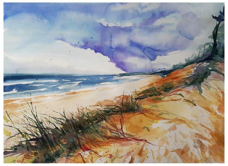 Dunes II/ Watercolour 2016/ format 73x54cm/ paper: Saunders 300g