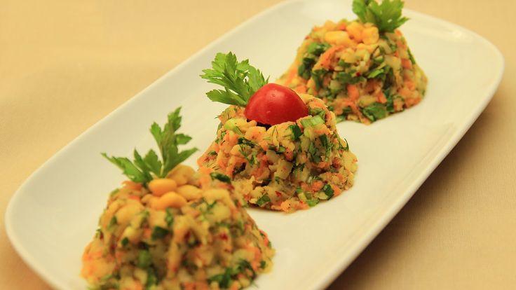 Patates Salatası Tarifi - Havuçlu Zeytinyağlı Sebze Salata