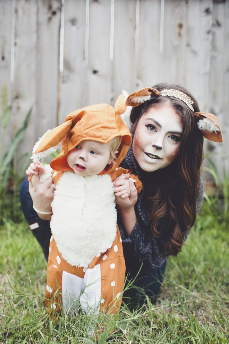 doe and fawn deer costume mother and baby costume for halloween