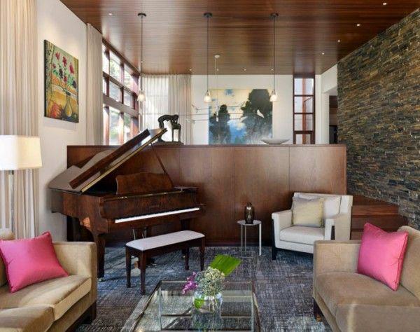 Die besten 25+ Klavier raumdekor Ideen auf Pinterest Klavier - futuristische buro einrichtung mit metall 3d wandpaneelen