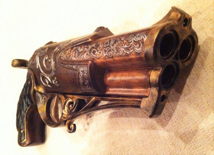 Steampunk Nerf Gun, Cosplay Pistol by DemCrafts on Etsy https://www.etsy.com/listing/259113701/steampunk-nerf-gun-cosplay-pistol