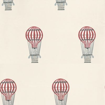 Lilleby Kids  (2668) - Boråstapeter Wallpapers - A smart air balloon motif design - shown in grey, black and red on a light taupe background. Please request sample for true colour match. Paste the wall product.