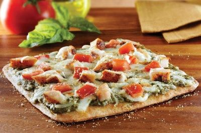 Flatbread Pizza | Olives, Powder and Bacon