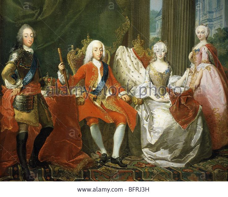 King Christian VI and Queen Sophie Magdalene were sitting.