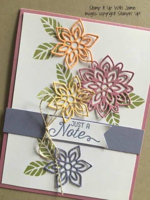 Delightful Rubber Stamp Card Making Ideas Part - 10: Flourish Thinlits - Stamp It Up With Jaimie - Stampin Up, Rubber Stamps,  Cards.