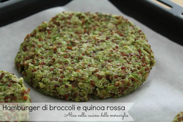 Hamburger di broccoli e quinoa rossa, ricetta secondo piatto vegetariano
