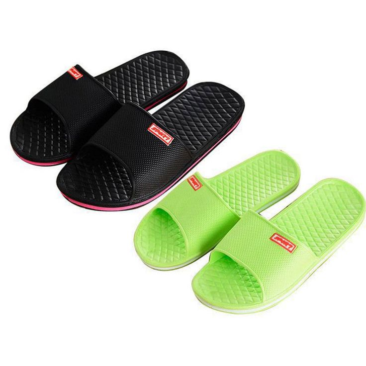 Hot Women Men Beach Shower Slippers Home Bathroom Casual Soft Shoes Summer 36-44