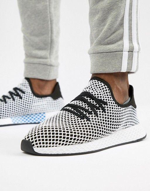 best service 8c365 98cce adidas Originals Deerupt Runner Sneakers In Black CQ2626  boyfriend   Pinterest  Adidas, Sneakers and Adidas originals