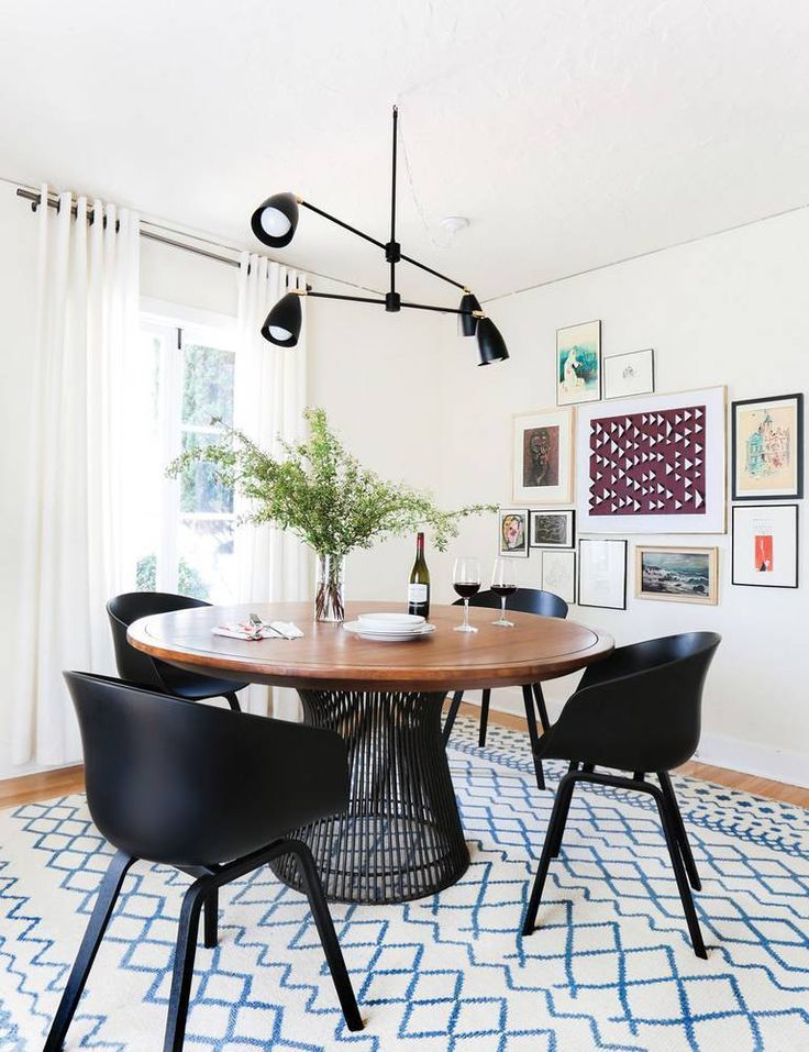 From The Lighting To Chairs Table Rug And Artthis Dining Room Nails It