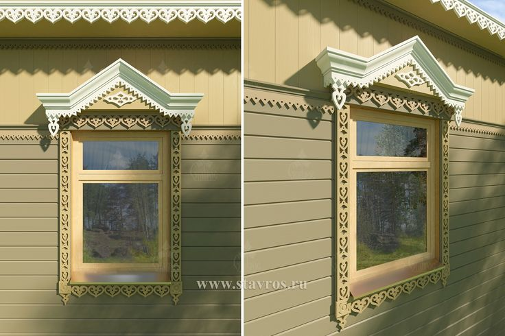 """The company """"Stavros"""" revives the culture of design houses with carvings and offers a collection of exclusive and colourful carved decorative elements, capable to become the main decoration of wooden houses. #окно #резной #дерево #народный #узор #декор #сосна #дом #строительство #загородный #деревянный #fabulous #pine #wood #carved #window #house #country #wooden"""