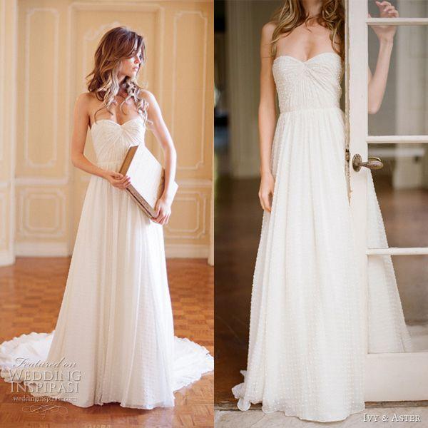 Adorable Sweet Pea Wedding Dress, $2500 by http://www.ivyandaster.com