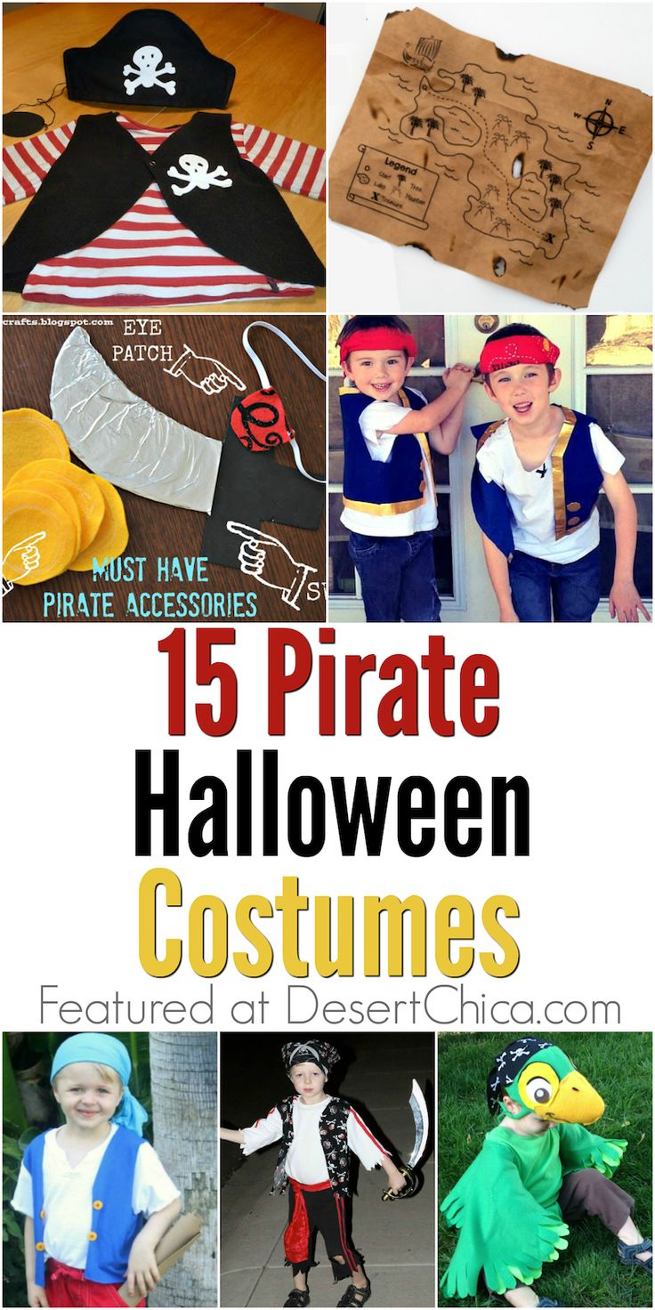 Everyone loves Peter Pan and Pirates of the Caribbean, so I know these DIY pirate Halloween costume ideas will be popular!