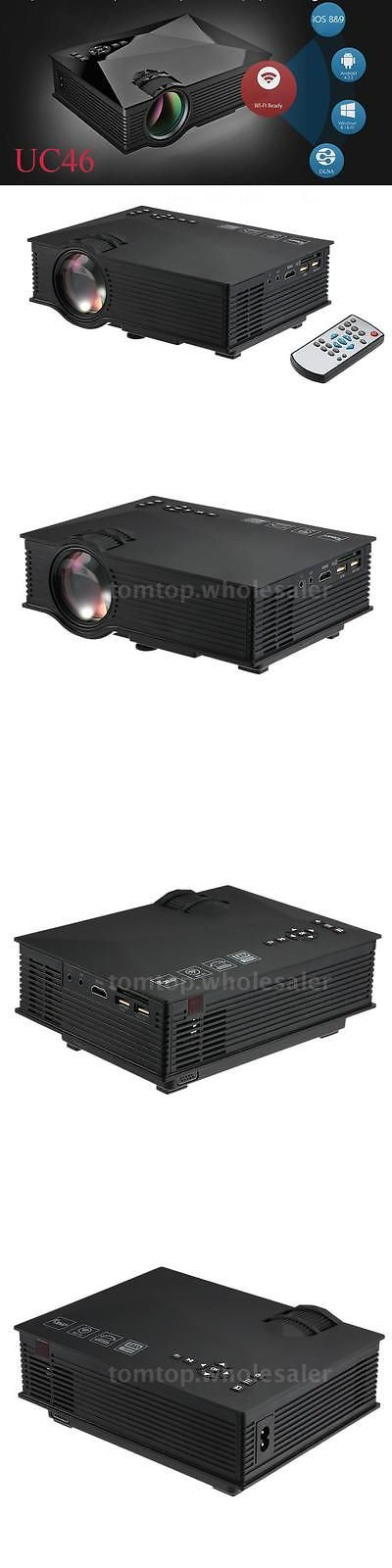 Home Theater Projectors: Uc46 Multimedia 1200Lumen Wifi Wireless Hd 1080P Projector Home Theater Hdmi Vga -> BUY IT NOW ONLY: $65.95 on eBay!